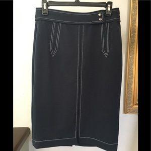 Banana Republic pencil skirt navy blue